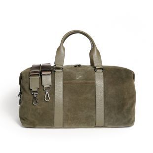 Weekender Paul in Large aus Veloursleder